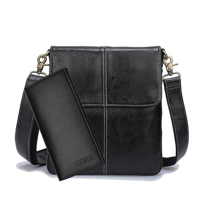 Leather Crossbody Bag - With Wallet