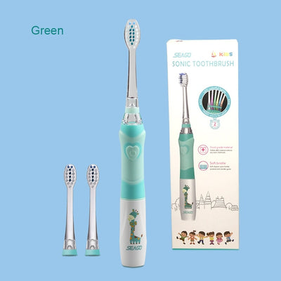 Kids Electric Toothbrush - green