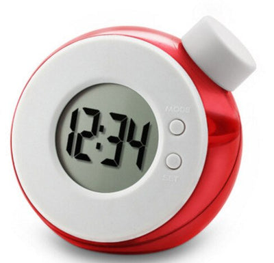 Water Powered Desk Clock - A-Red
