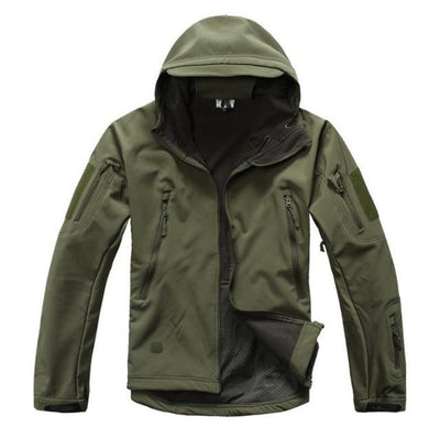 Waterproof Tactical Jacket - Army Green / XS