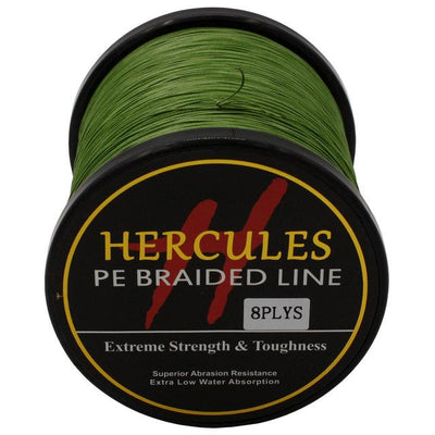 Colored Braided Fishing Line - Army Green