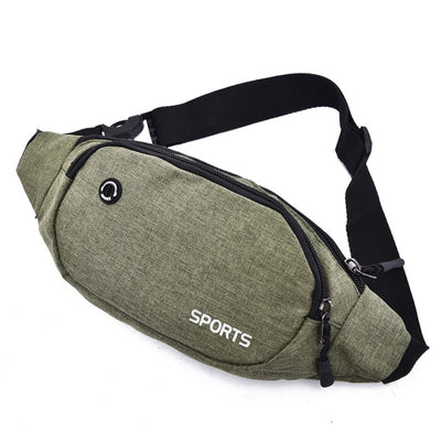 Nylon Waist Bag - Army Green