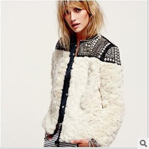 Beaded Fur Jacket -