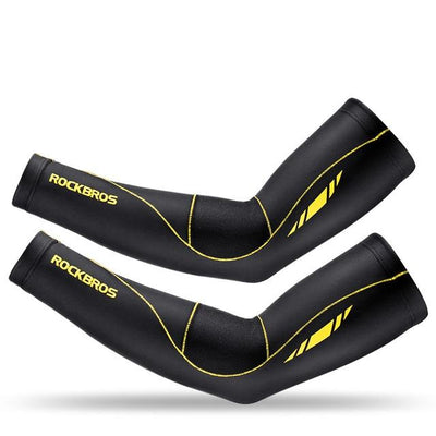 arm sleeves - Black Yellow / XS