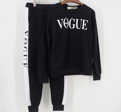 Vogue Tracksuit Set - Black / S