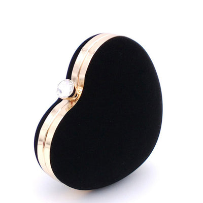 Heart Shaped Evening Bags - Black
