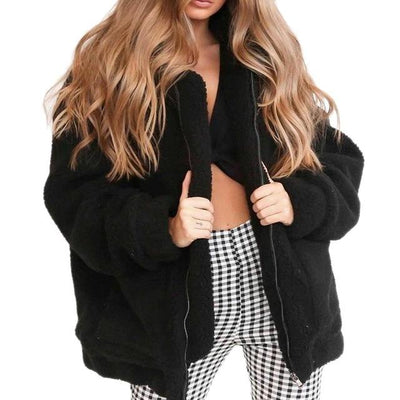 Teddy Bear Jacket - Black / S