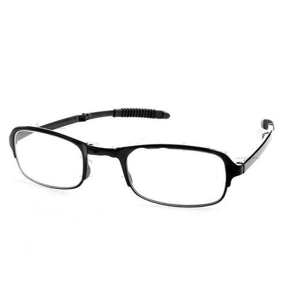 Unisex Folding Reading Glasses - +100 / Black