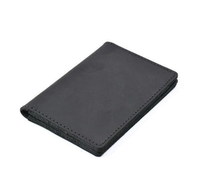 Men's Leather Card Wallet - Black