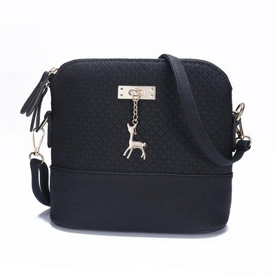 Soft Leather Bag for Women - Black