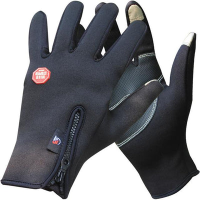 Outdoor Thermal Sports Bike Gloves - Black / S