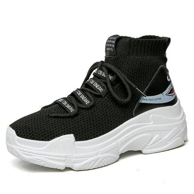Breathable Shark Sneakers - Black / 38