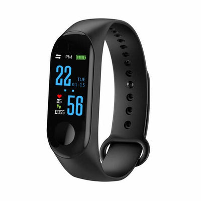 Electronics smartwatch with fitness tracker - Black