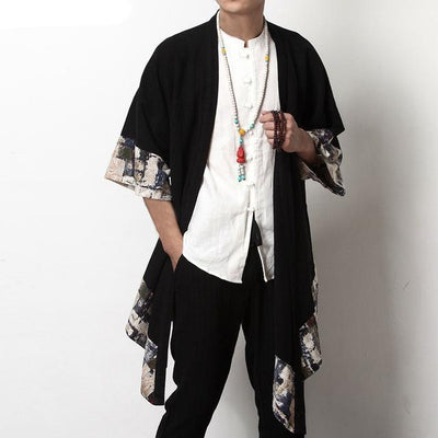 Chinese Style Cardigan - Black / S