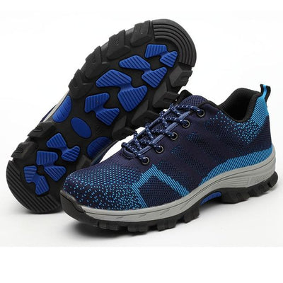 Bulletproof Mesh Safety Shoes - Blue / 35