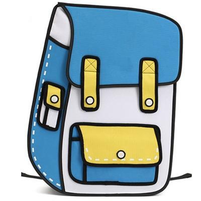 2D Backpack - Blue