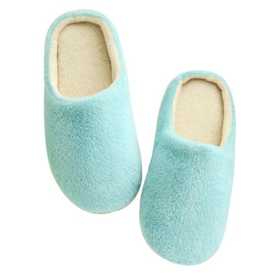 Candy Color Indoor Slippers - Blue / 36