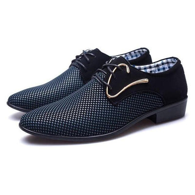 Oxford Dress Shoes - Blue / 6