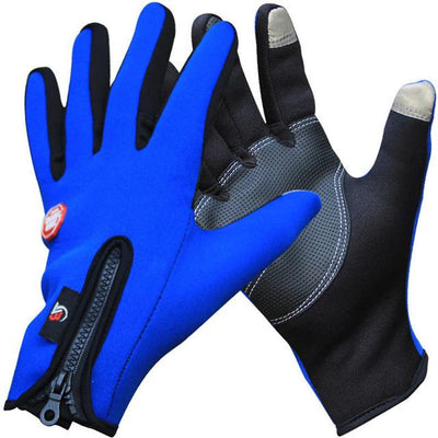 Outdoor Thermal Sports Bike Gloves - Blue / S