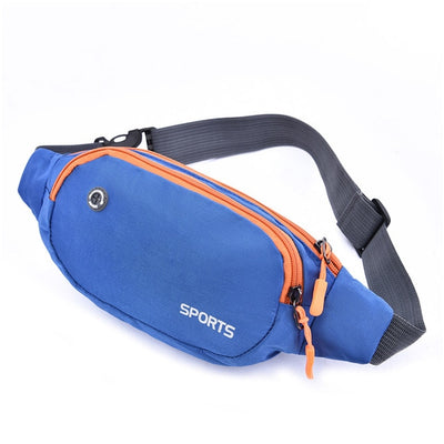 Nylon Waist Bag - Blue
