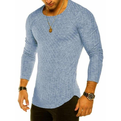 Slim-Fit Long Sleeve - Blue / S