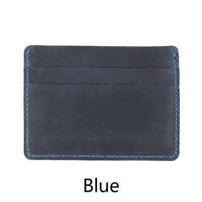 Men's Leather Card Holders - Blue