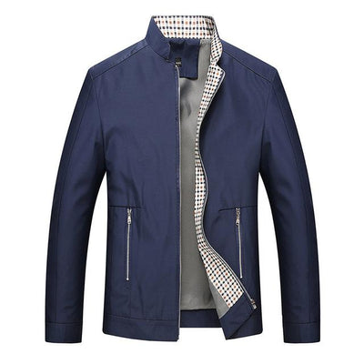 Casual Fashion Coat - Blue / M