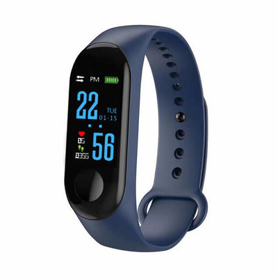Electronics smartwatch with fitness tracker - Blue