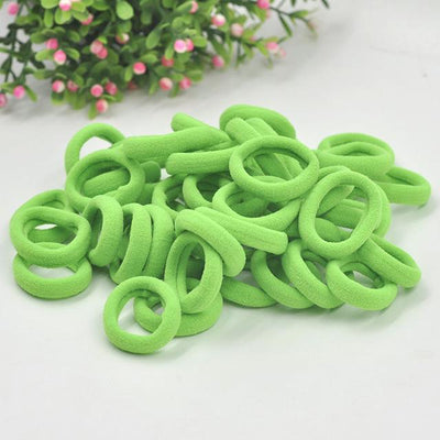 Spandex Ponytail 50pcs - Bright Green