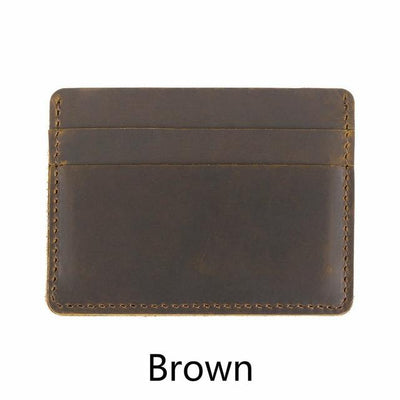 Men's Leather Card Holders - Brown