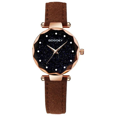 Women Starry Sky Watch - Brown