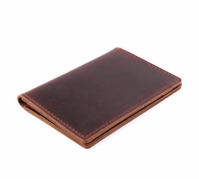 Men's Leather Card Wallet - Brown