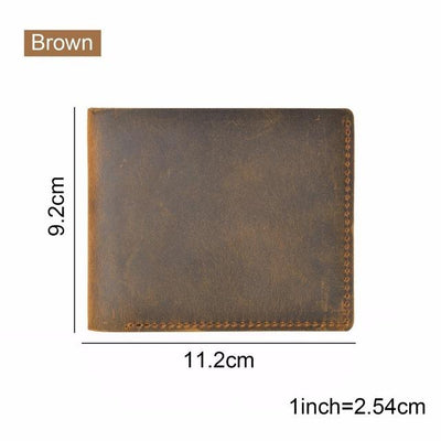 Vintage Leather Wallet - Brown