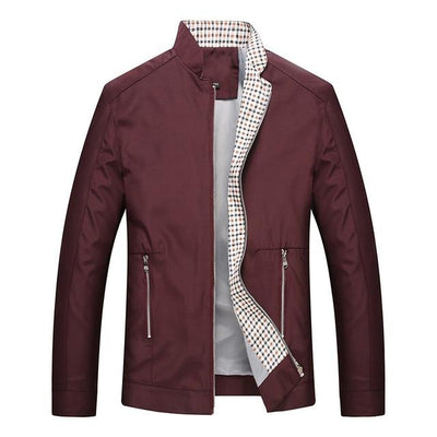 Casual Fashion Coat - Burgundy / M