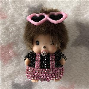 Monkey Girl Car Freshener - Baby Pink