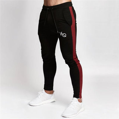 Vanquish Jogger Pants - Black Solid Red Side / M