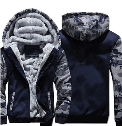 Super Warm Hype Hoodies - Camo Blue / S
