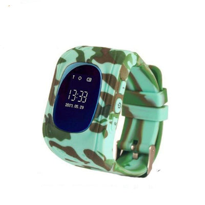 Anti-Lost Smart Watch - Camo color / English GPS Version
