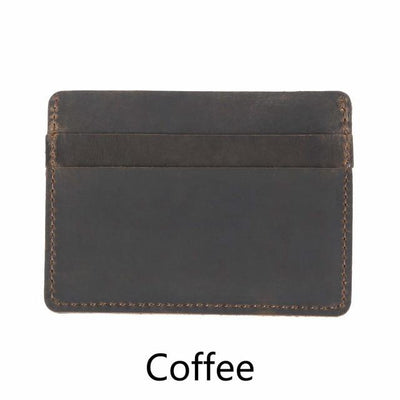 Men's Leather Card Holders - Coffee