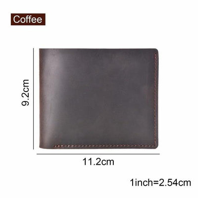 Vintage Leather Wallet - Coffee