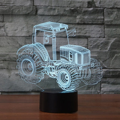 Excavator Truck 3D Led Lamp - Color Changeable 10 / Touch 7 Colors