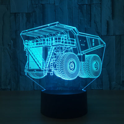 Excavator Truck 3D Led Lamp - Color Changeable 5 / Touch 7 Colors