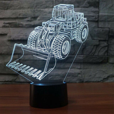Excavator Truck 3D Led Lamp - Color Changeable 3 / Touch 7 Colors