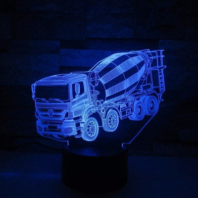 Excavator Truck 3D Led Lamp - Color Changeable 8 / Touch 7 Colors