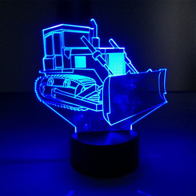 Excavator Truck 3D Led Lamp - Color Changeable 6 / Touch 7 Colors