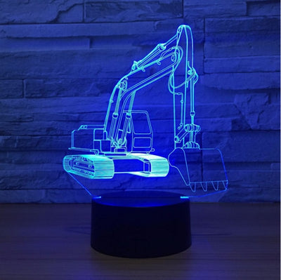 Excavator Truck 3D Led Lamp - Color Changeable 7 / Touch 7 Colors