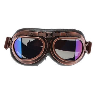 Retro Steampunk Copper Motorcycle Goggles - Colorful Lens
