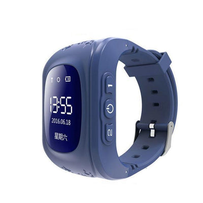 Anti-Lost Smart Watch - Dark Blue color / English GPS Version