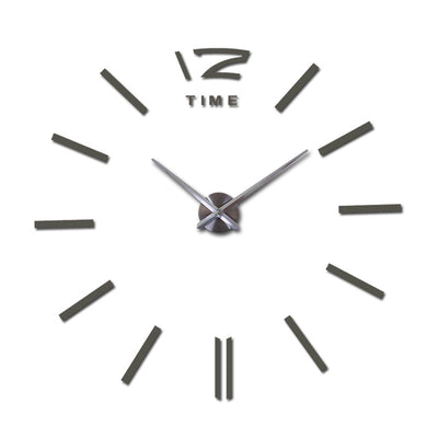 DIY 3d wall clock - Dark Gray / 27inch