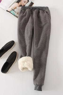 Candy Color Warm Jogger Pants - Dark Grey / M